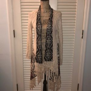 Hippie Rose fringed sweater
